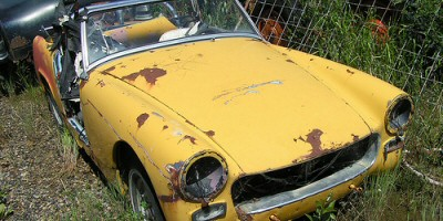 Even in this condition, we can restore it to be a classic car road runner.